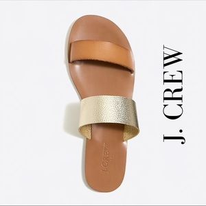 New J. Crew Slide on Sandals